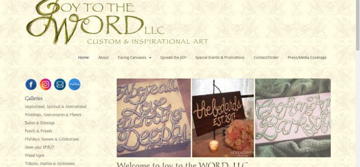 Joy to the WORD – Inspirational Art